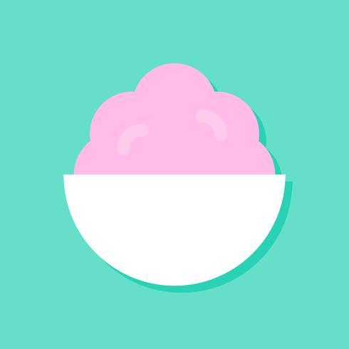 Illustration vectorielle soft serve, icône de style plat de bonbons