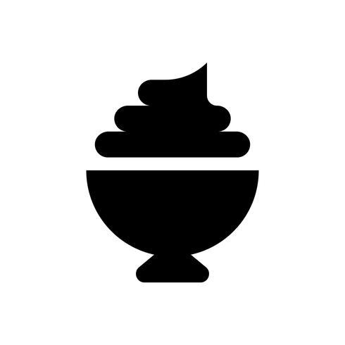 Ilustração vetorial soft serve, ícone de estilo sólido de doces