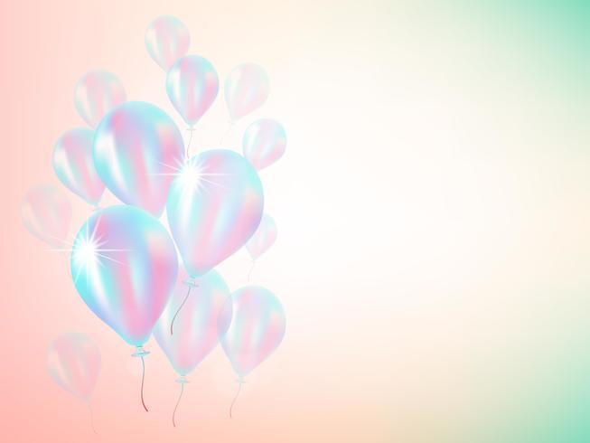 holografische ballon achtergrond