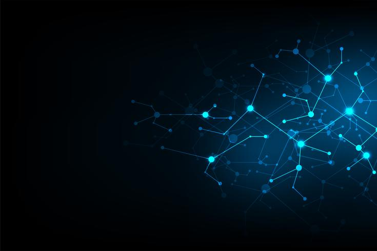 Vector abstract background technology network design.