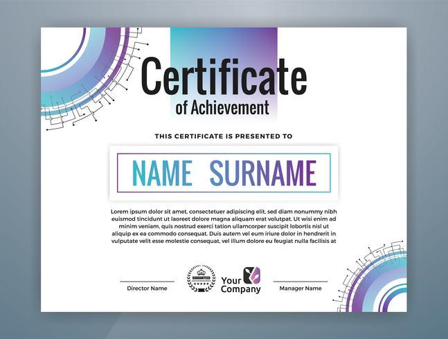 Multifunctioneel professioneel certificaatsjabloonontwerp. Abstracte vectorillustratie