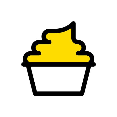 Soft serve vector, Sweets filled icon editable outline vector