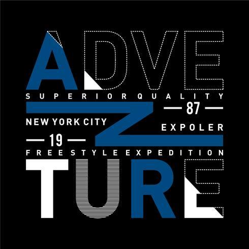 ADVENTURE design typography vintage vector illustration for t shir