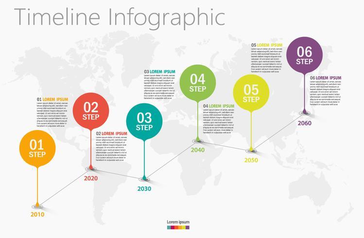 Presentation företags infografisk mall med 6 alternativ. vektor