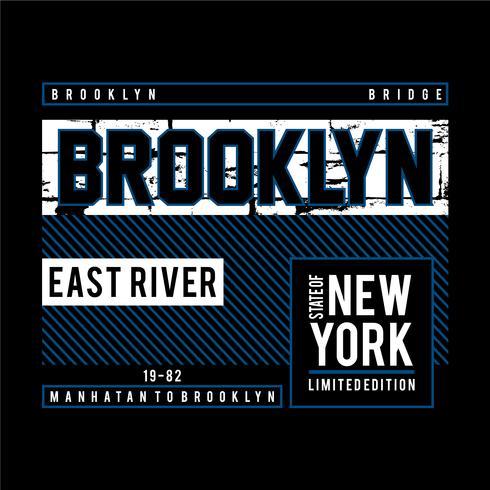 Brooklyn bridge illustratie, tee shirt graphics