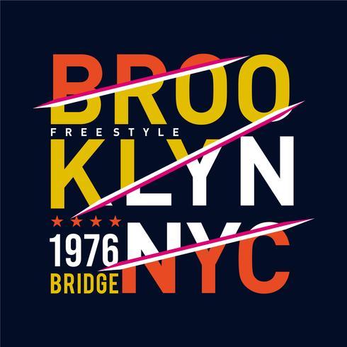 brooklyn-bridge typografieontwerp voor t-shirt