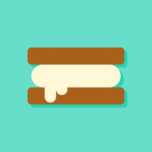 Ice cream sandwich vector illustration, Sweets flat style icon