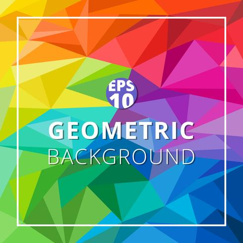 Abstract geometric low polygon colorful background. Triangle pattern texture.