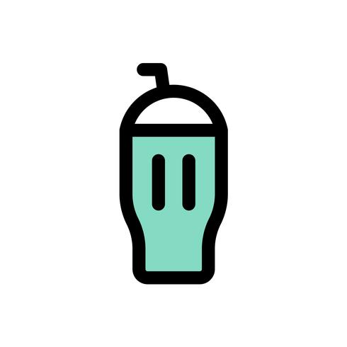 Ice cream milkshake vector, Sweets filled icon editable outline vector