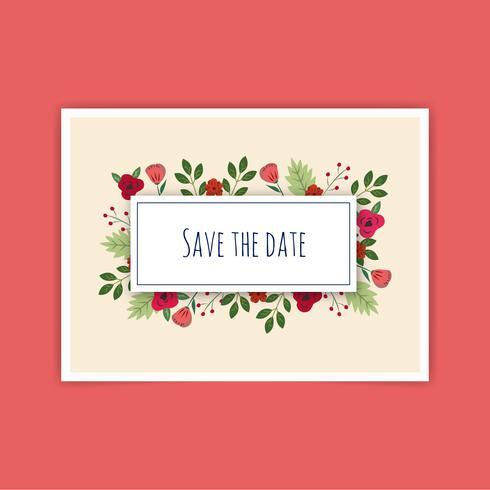 Guardar la fecha de boda Vector