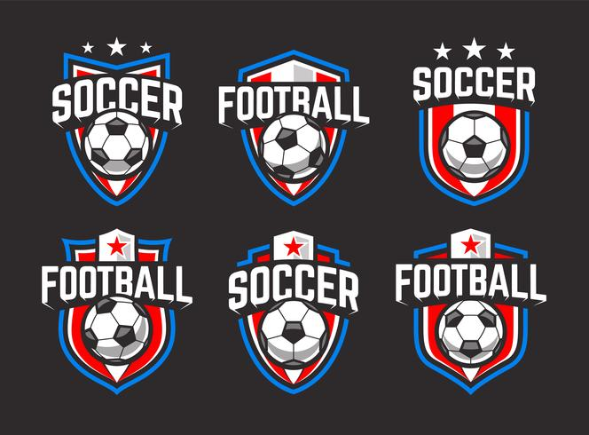 Soccer Vector Emblems Set