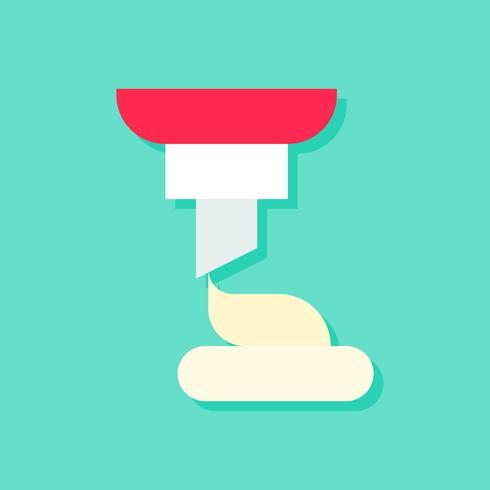Ilustración de vector de servicio suave, icono de estilo plano de dulces