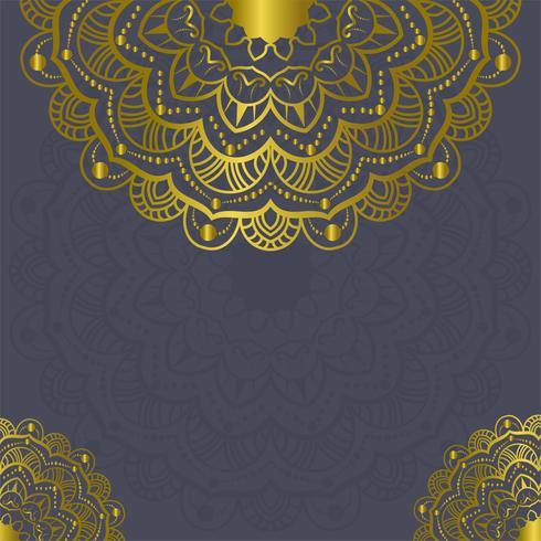 Ilustración de Vector de marcos decoraciones vintage de Mandala [convertida]