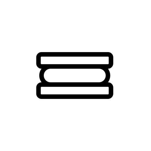 Ice cream sandwich vector illustration, Sweets line style icon