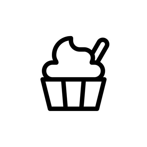 Soft serve vector illustration, Sweets line style icon