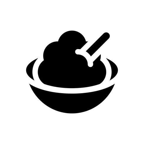Soft serve vector illustration, Sweets solid style icon