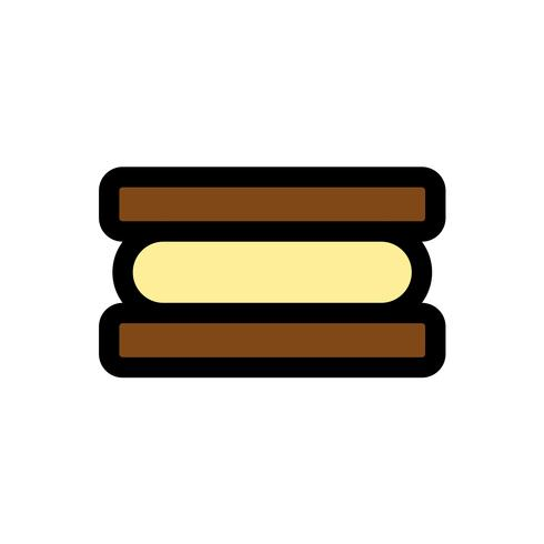 Ice cream sandwich vector, Sweets filled icon editable outline