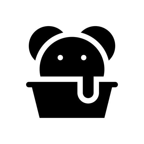 Ilustración de vector de taza de helado, icono de estilo sólido de dulces