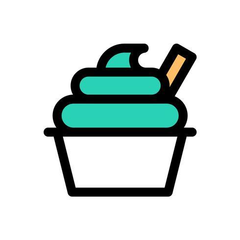 Helado taza vector, dulces edita icono editable contorno