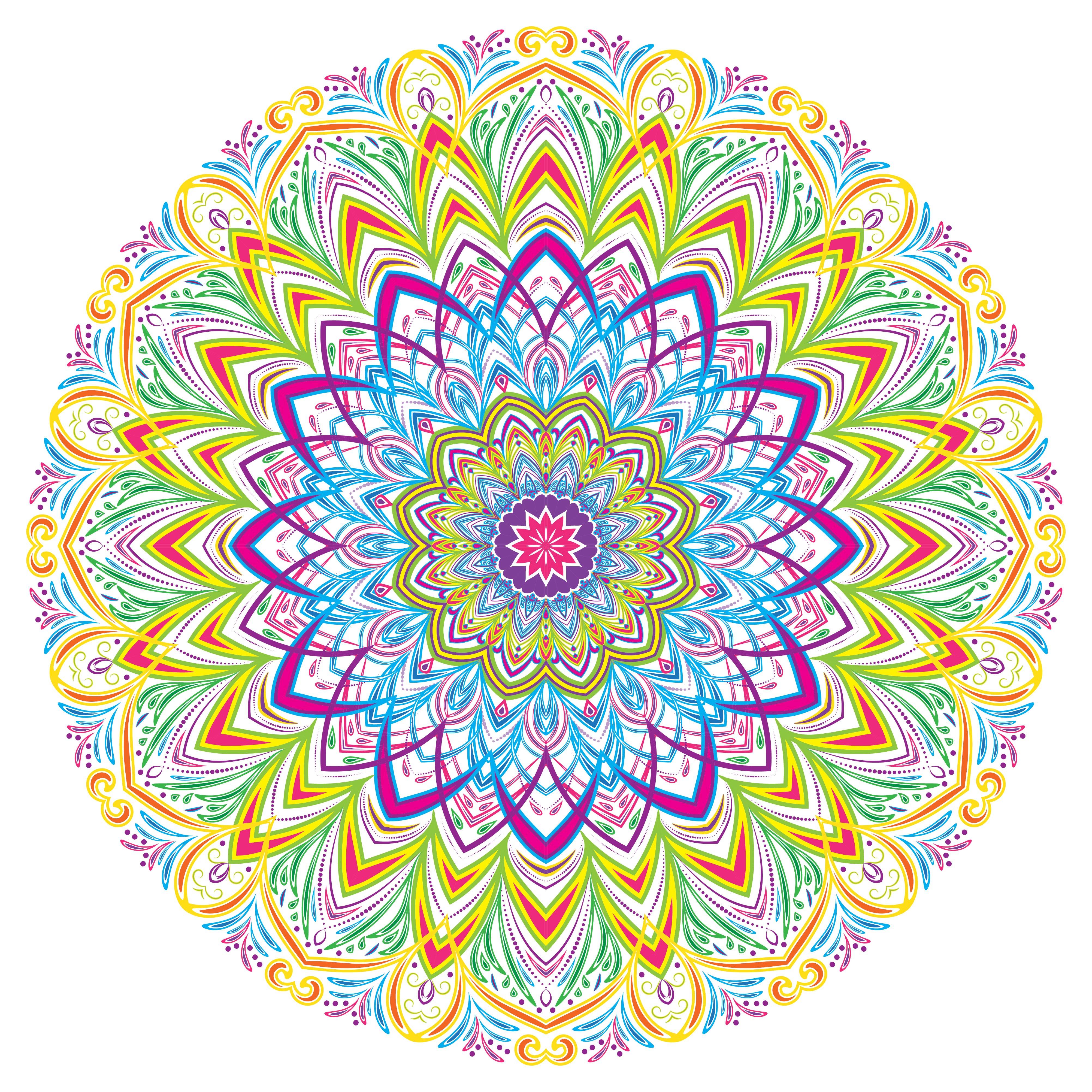 Colorful Mandala Vintage Decorative Elements, Vector