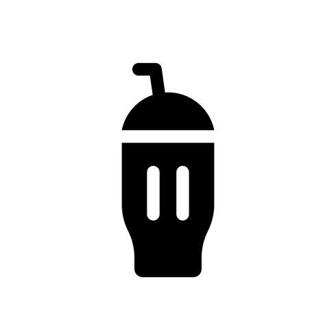 Glass milkshake vektor illustration, godis stil stil ikon