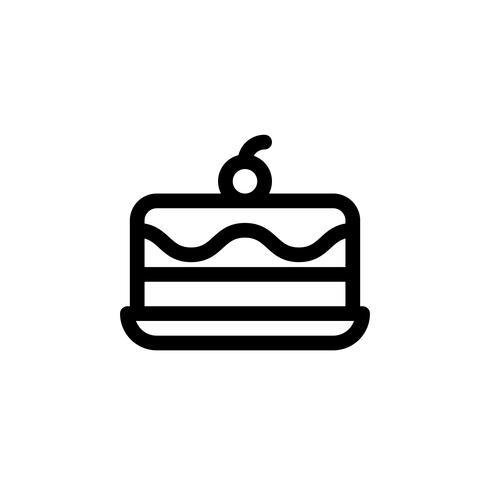 Illustration vectorielle de gâteau de crème glacée, icône de style de ligne de bonbons