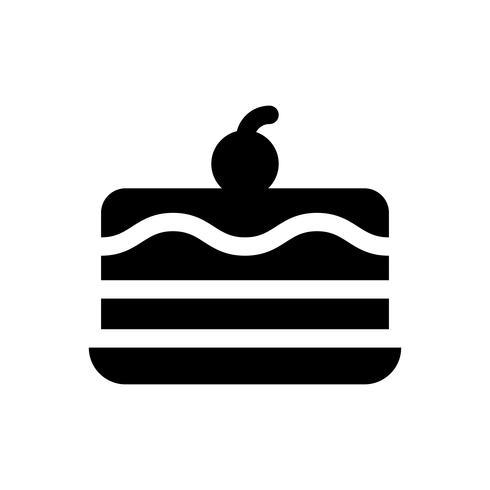 Ilustración de vector de pastel de helado, icono de estilo sólido de dulces