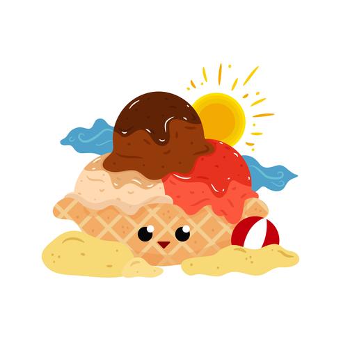Vector de helado de verano