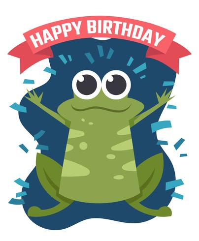 Happy Birthday Animals vector