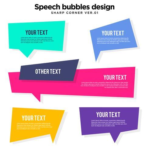 Conjunto de variación de burbuja de discurso vector