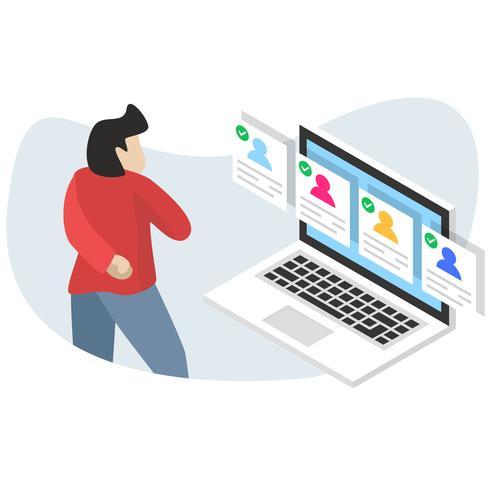 Jobs Recrutement Emploi Ressources Humaines Site Web Concept en ligne