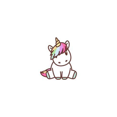 Seduta sveglia dell'unicorno, illustrazione di vettore