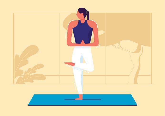 Pose de yoga ilustración vectorial