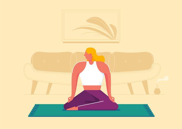 Illustration vectorielle de yoga pose