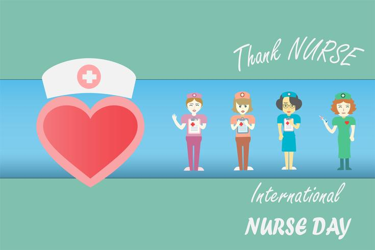 International nurse day on May every year design by vector in tonality tone concept