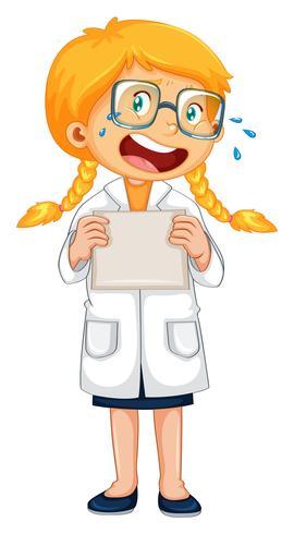 Ein weinender Doktor in Uniform