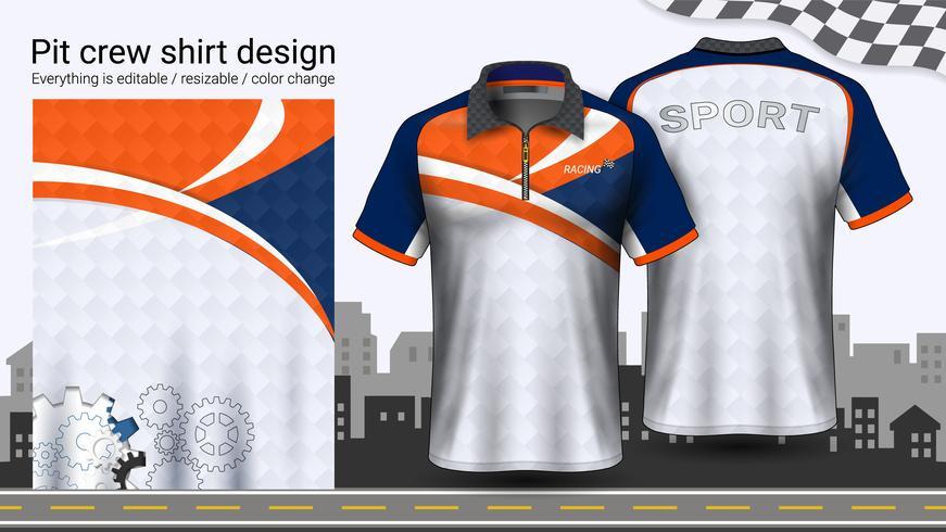 Polo-t-shirt met rits, mockupsjabloon Racing uniformen voor actieve kleding en sportkleding.