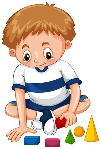 Niño jugando formas