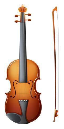Een bruine viool