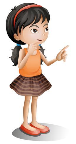 Una niña pensante vector