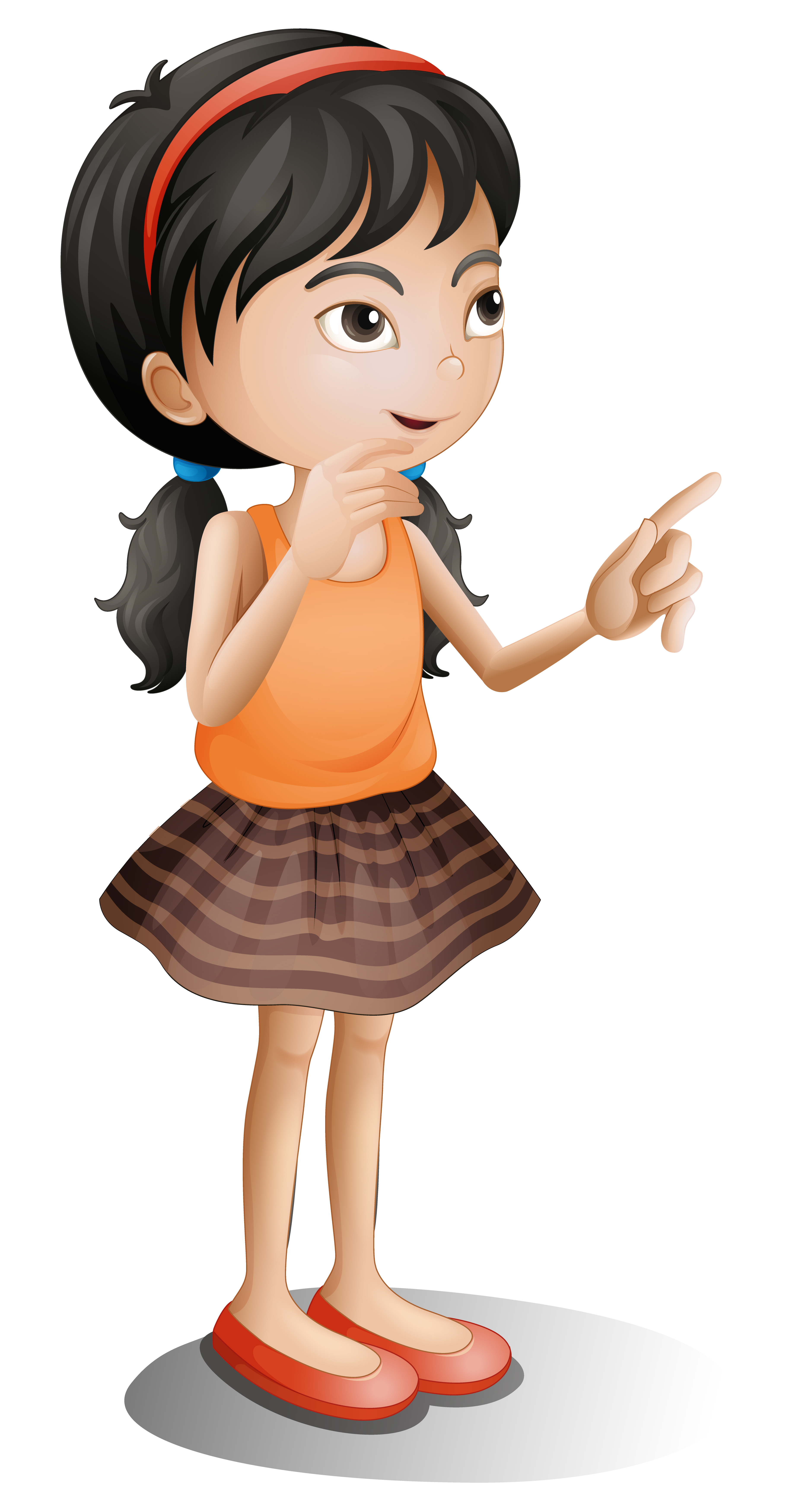 A thinking girl - Download Free Vectors, Clipart Graphics ...