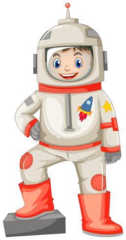 Astronaut in ruimtepak op witte achtergrond
