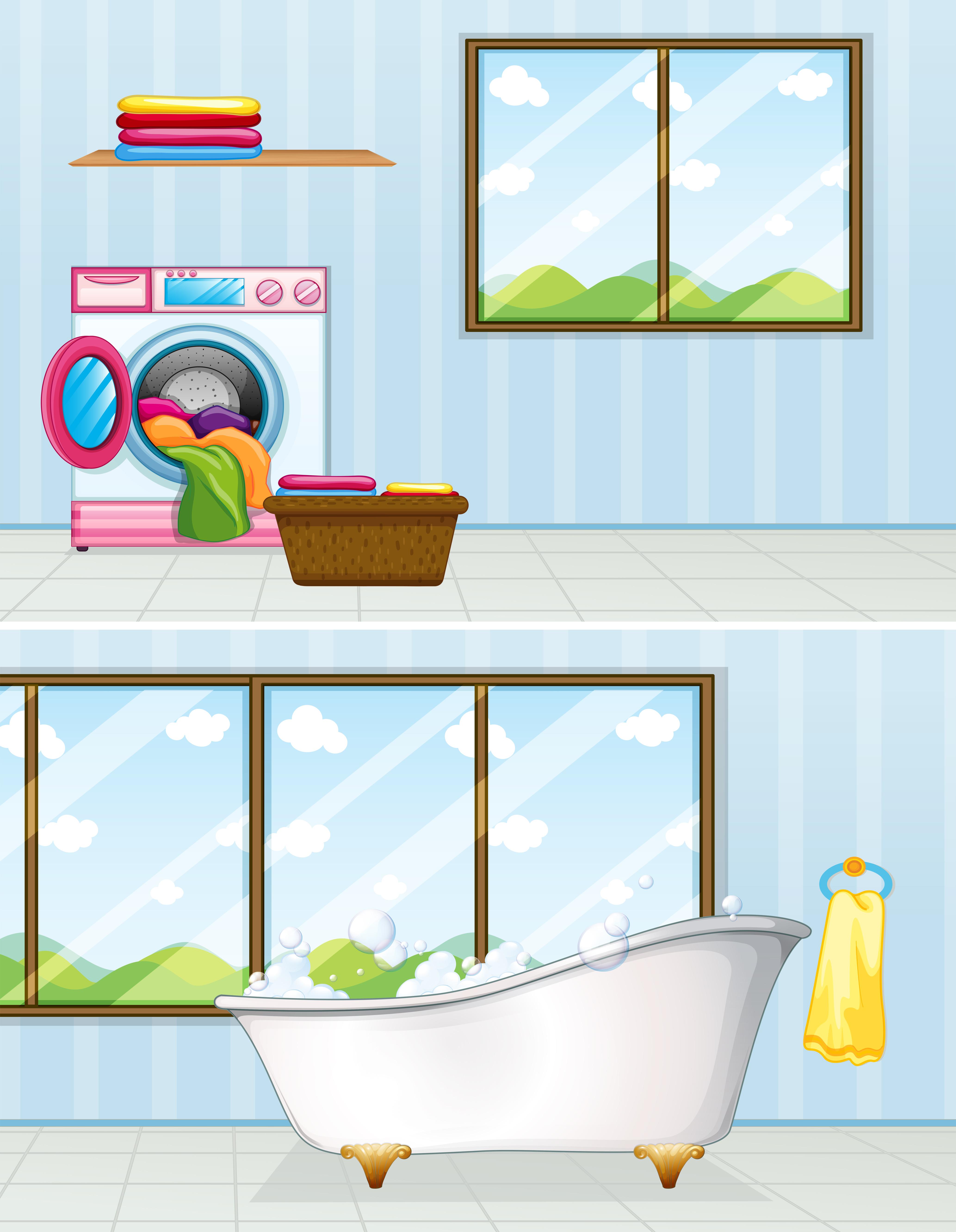 Cuarto de lavado y baño. 559464 Vector en Vecteezy