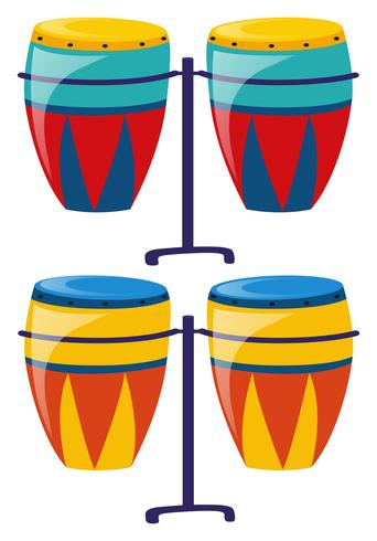 Due set di tamburi colorati