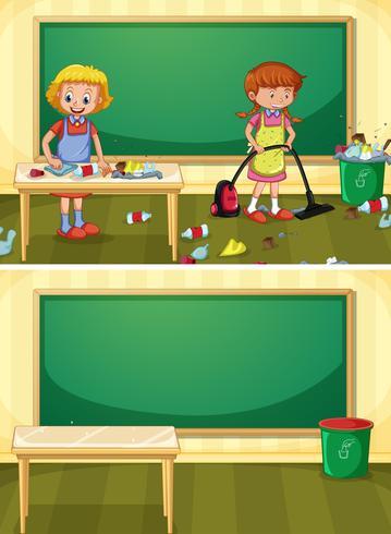 Zelador Limpeza Dirty Classroom