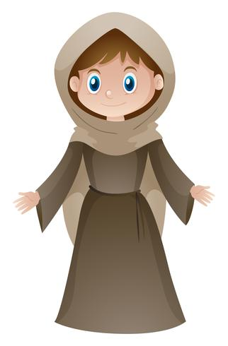 Woman in brown medieval style costume