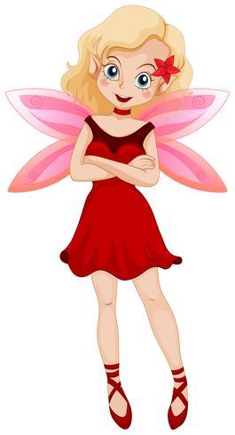 Leuke fee met roze vleugels