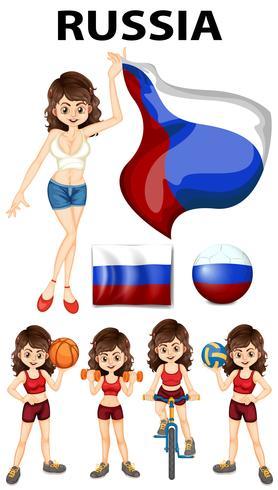 Russland Vertreter und viele Sportarten