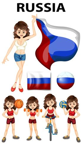 Russia representative and many sports