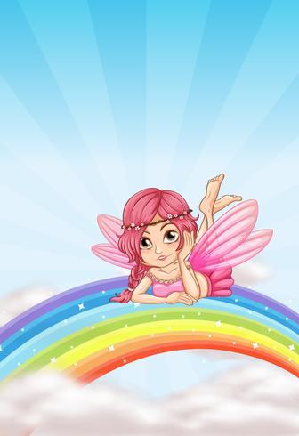 Un hada en el arcoiris